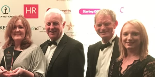 Teamwork Trust is a winner at Northamptonshire Business Awards 2018
