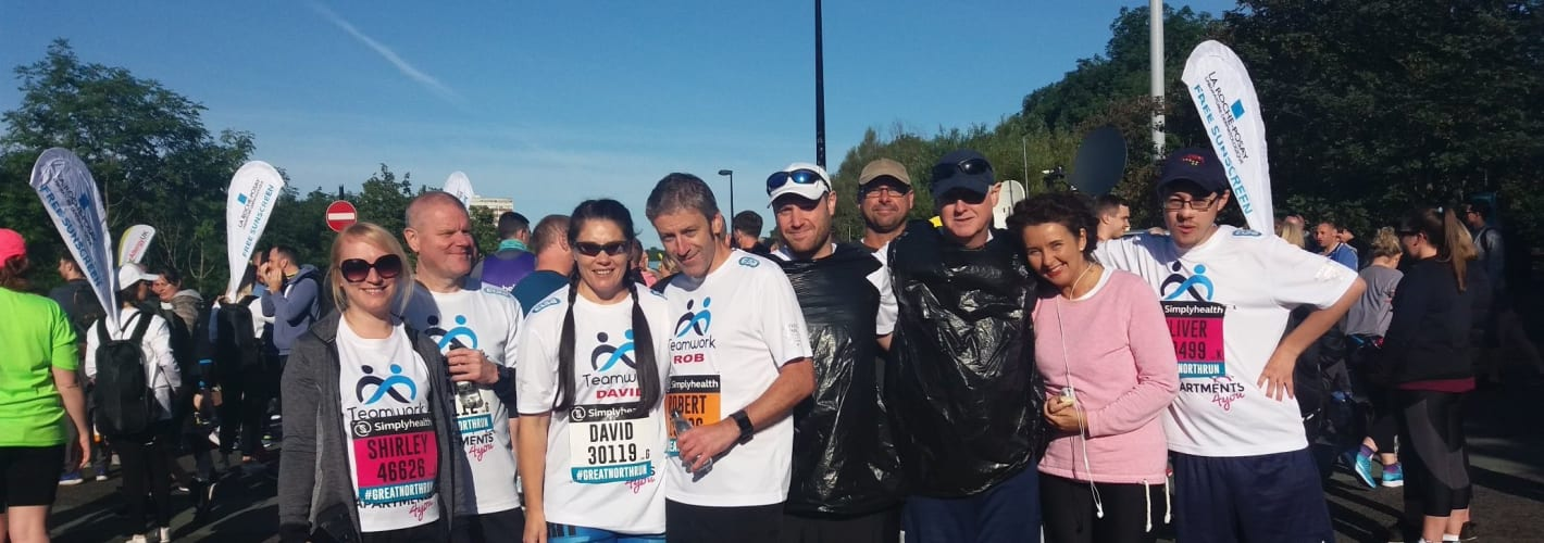Great North Run success for Teamwork Trust