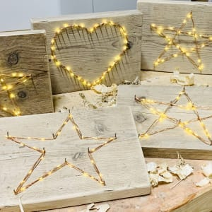Wooden LED Heart